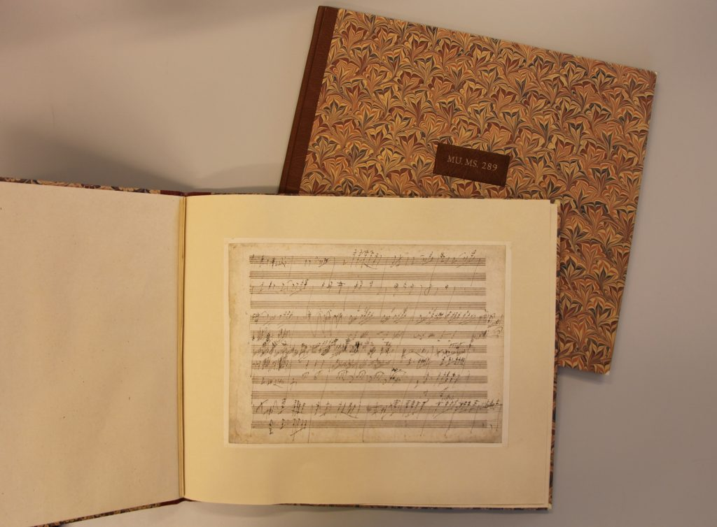 1819 Beethoven Letter conserved and bound in Cockerell Bindery