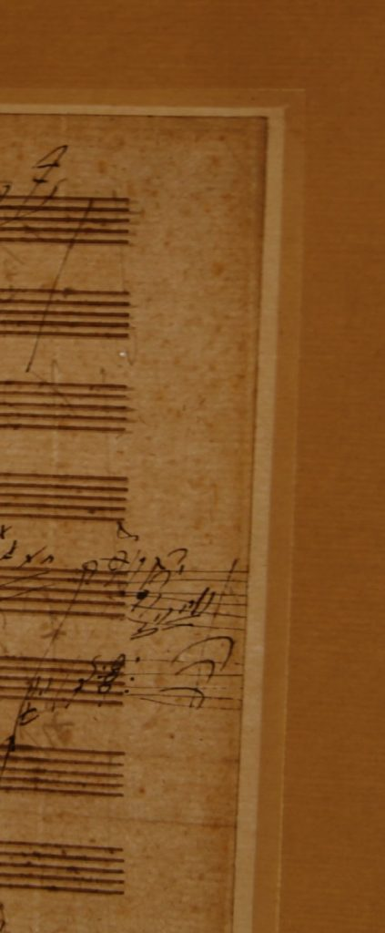 1819 Beethoven Letter detail of margin
