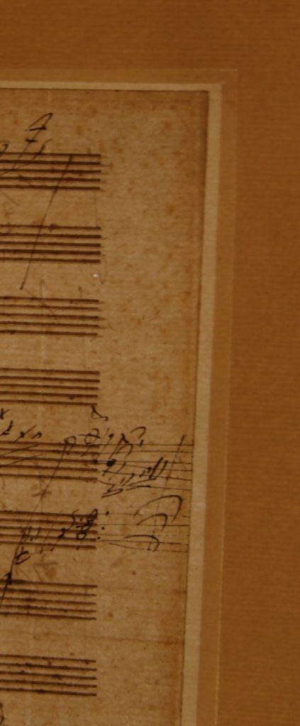 1819 Beethoven Letter detail of margin