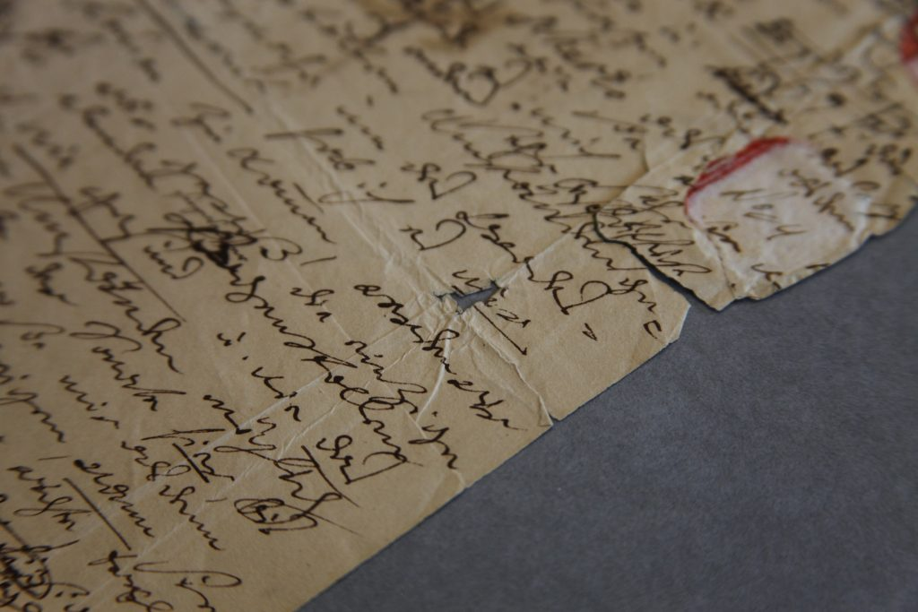 1819 Beethoven letter before conservation