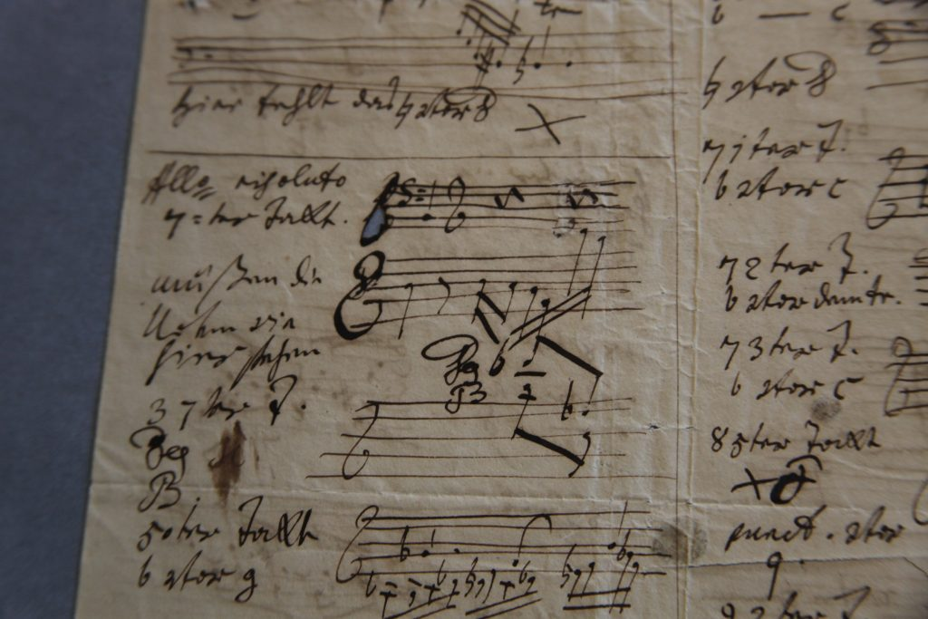 1819 Beethoven letter (detail)
