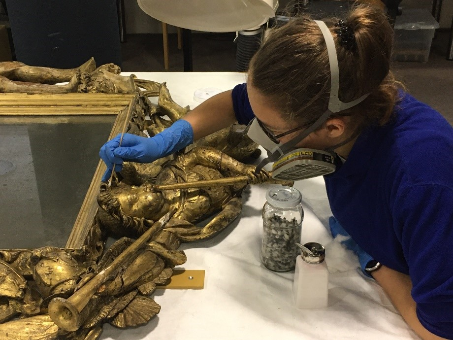 Conservator cleaning frame