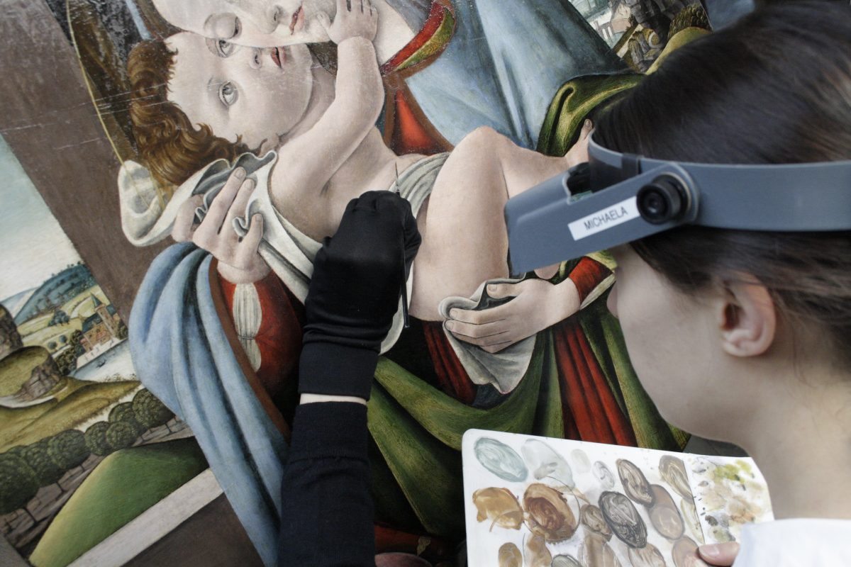 The Restoration of a Virgin and Child Tondo for the Madonnas & Miracles Exhibition at the Fitzwilliam Museum