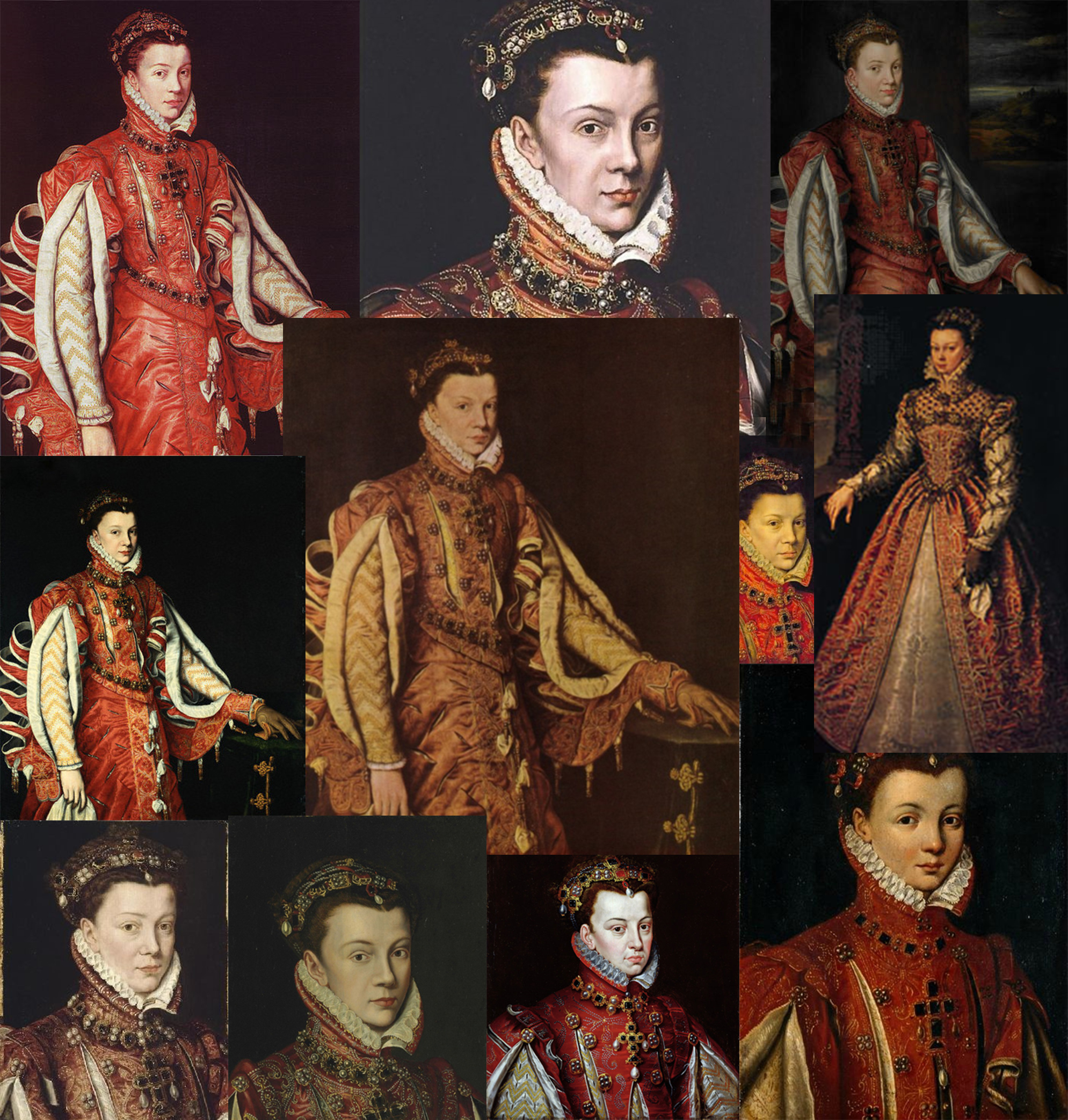Fig. 2. Collage of all the portraits
